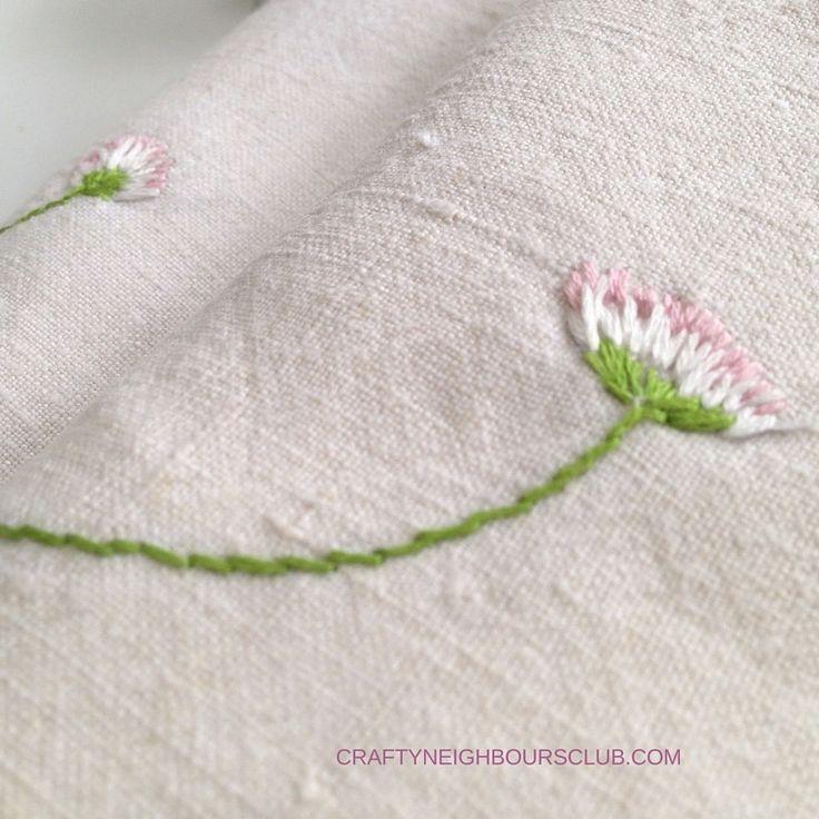 Stickanleitung für kleine Gaensebluemchen