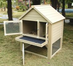 Eco Friendly Bunny Hutch - ecoFlex material resists climate changing conditions. Pull-out tray for easy clean up, access to either sides with double doors. Use it in garage, backyard or patio! Extra room at the bottom for bunny to roam freely and safe from animals.
