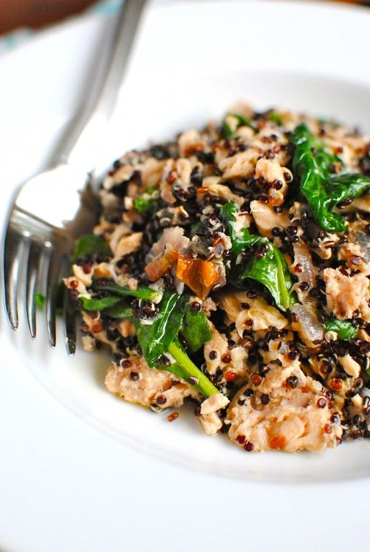 Salmon with Quinoa and Spinach