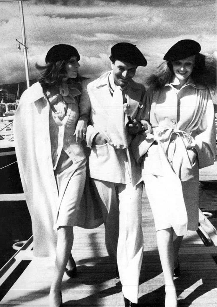 Anjelica Huston, Manolo Blahnik & Grace Coddington by David Bailey.