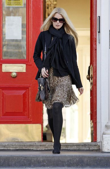 Claudia Schiffer Photos Photos - Model Claudia Schiffer is looking as stylish as ever as she leaves a school in Notting Hill. - Claudia Schiffer Leaves a School