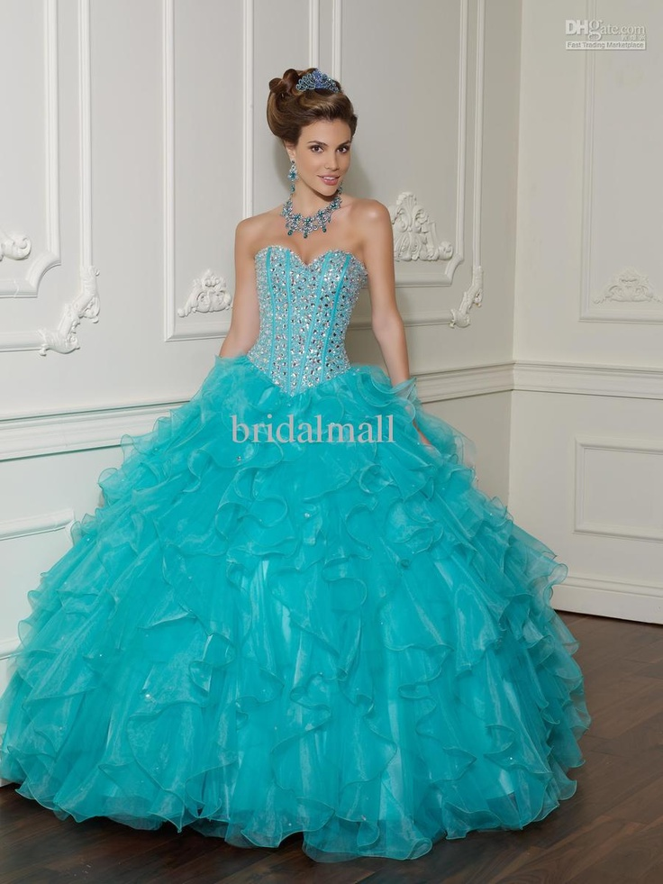 Wholesale Glamourous exquisite beaded sweetheart neck bodice organza ball gown baby blue quincearnera dresses, $140.24-185.04/Piece | DHgate