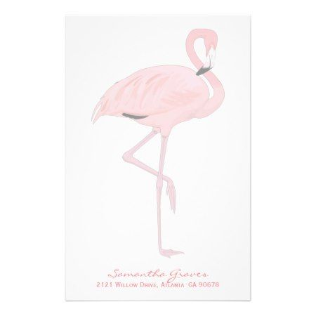 Pink Flamingo Custom Stationery - click to get yours right now!