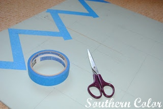 How to paint chevron stripes!