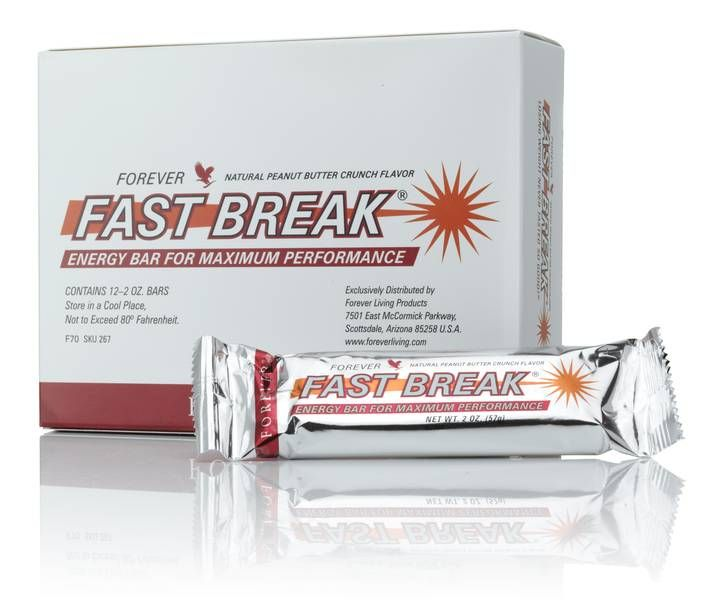 Fast Break Energy Bar The Fast Break Energy Bar is packed with vitamins and minerals. It also provides valuable protein, polyunsaturated fatty acids and satisfying dietary fibre. Perfect directly after physical exertion or when taken a couple of times during the day.