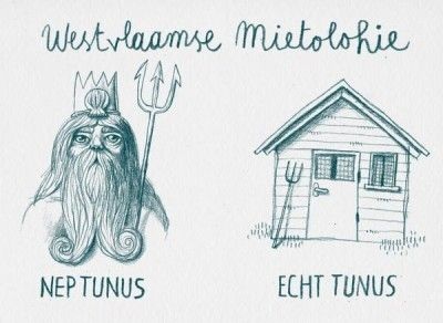 Illustrator Bert Dombrecht uit Moorsele scoort op Facebook met West-Vlaamse 'mietolohie'