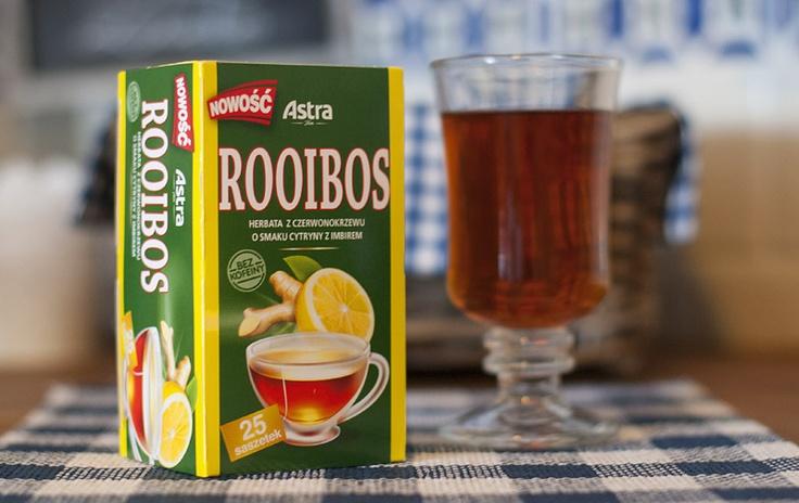 Jak smakuje Astra Rooibos o smaku cytryny z imbirem - opinia na blogu