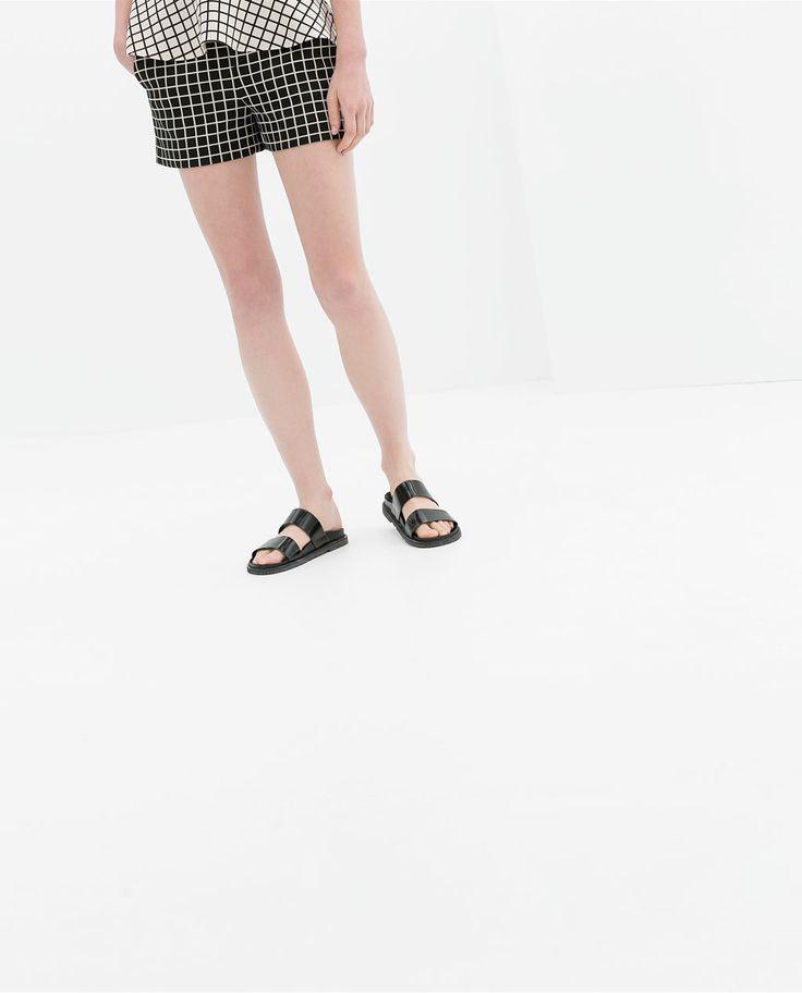 Image 2 of CHECKED SHORTS from Zara