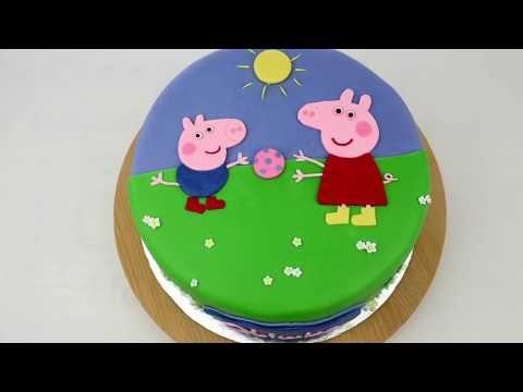 💗 Birthay cake with peppa pig,  Orchideli - Peppa Pig cake💗