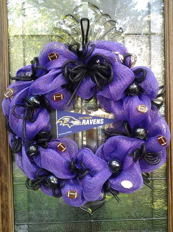 Ravens wreath in Purple by BCCbyBecca on Etsy, $45.00
