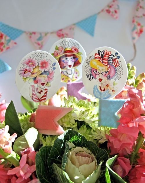 DIY Bouquet swizzle sticks by Bronwyn Hayes designer for Red Brolly, via Flickr