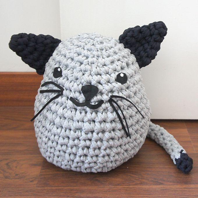 Gato sujetapuertas de trapillo - MissDIY