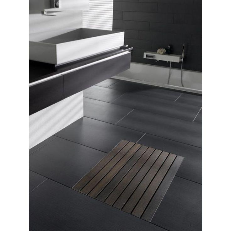 Прямоугольный душевой поддон Aco Walk-In 9010.56.28 50*70 см из нержавеющей стали с водоотводом для ванной комнаты