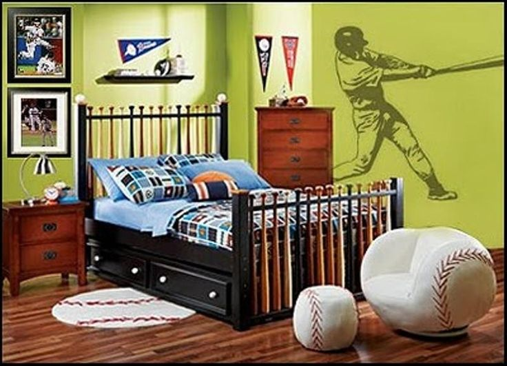 This Clever Baseball Bedroom Was