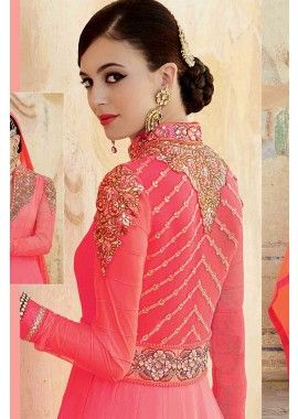 georgette rose costume Anarkali