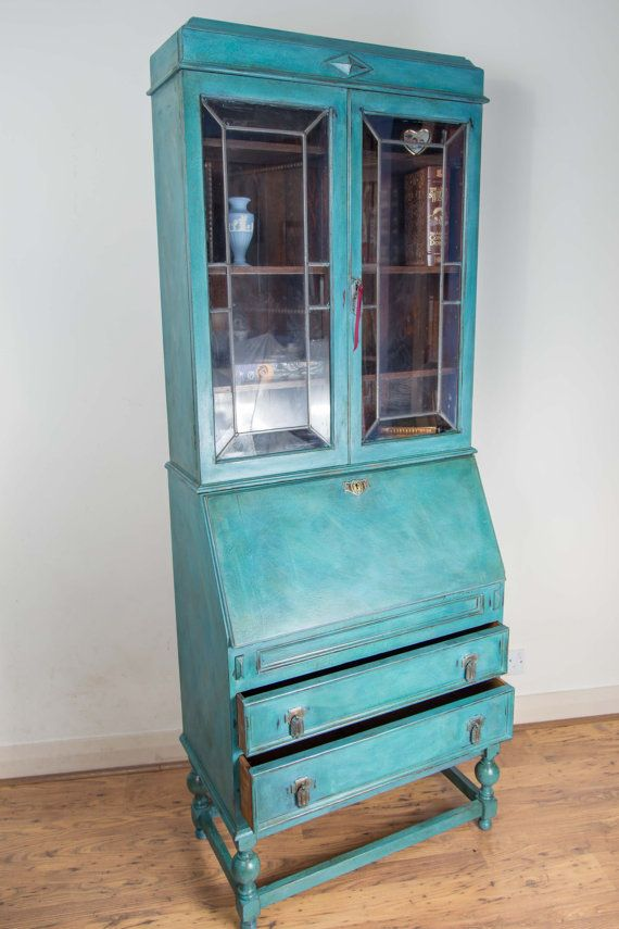 Image result for bureau bookcase painted