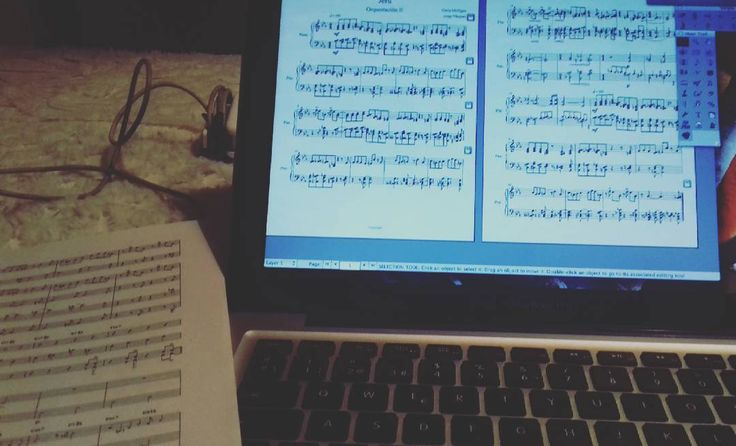 Done!  #Seru #orquestación #orquestation #sheetmusic #Mac #apple #macbook #finale2014 #transcript #transcribir #trumpet #trombone #horn #altosax #baritonesax #GerryMulligan #jazz #sleep #night #instamusic #music #musica #musico #study #brass #piano by sheep_bassquez