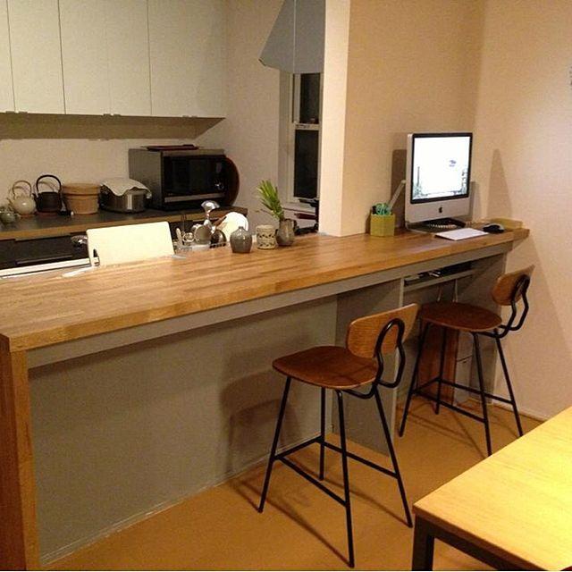 のキッチンカウンター /カウンター/手作り/unico/リビングについてのインテリア実例を紹介。(この写真は 2014-07-08 12:54:38 に共有されました)