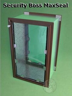 """The Security Boss MaxSeal Pet Door is the best insulating, sealing and security door available. UV treated and weatherized vinyl flaps help ensure an air tight seal! The flaps are held to the industrial aluminum frame that is powder coated in 10 frame colors. 10 pet opening sizes available, accommodating any breed. Fits walls 2"""" to 10"""". http://www.moorepet.com/MaxSeal-Wall-Mount-Dual-Flap-tall-p/sbwmdf11x20.htm"""