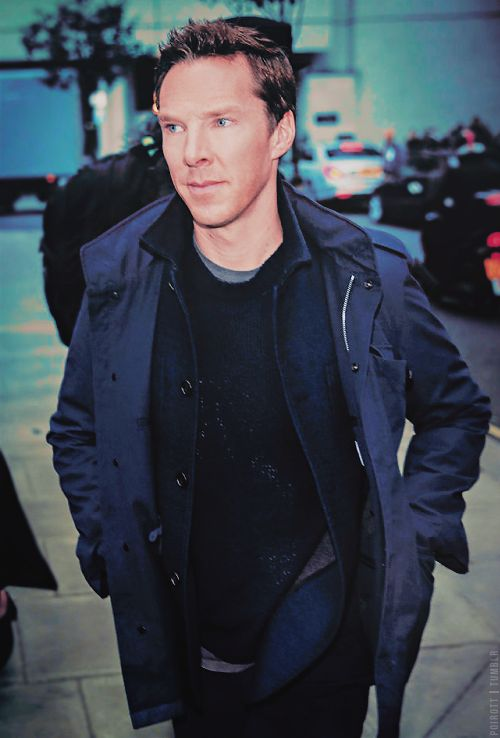 Benedict Cumberbatch is spotted leaving BBC Radio One studios after  promoting his new film