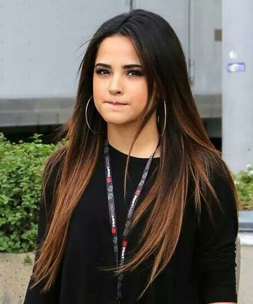 Becky G Beautiful Long Straight Hairstyles To Copy For Teenage Girls Hair And Comb Hair Styles Summer Hair Color Messy Short Hair