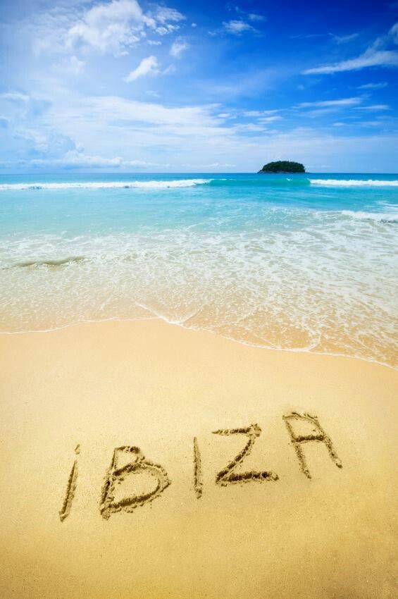 Ibizas written in the Sand.