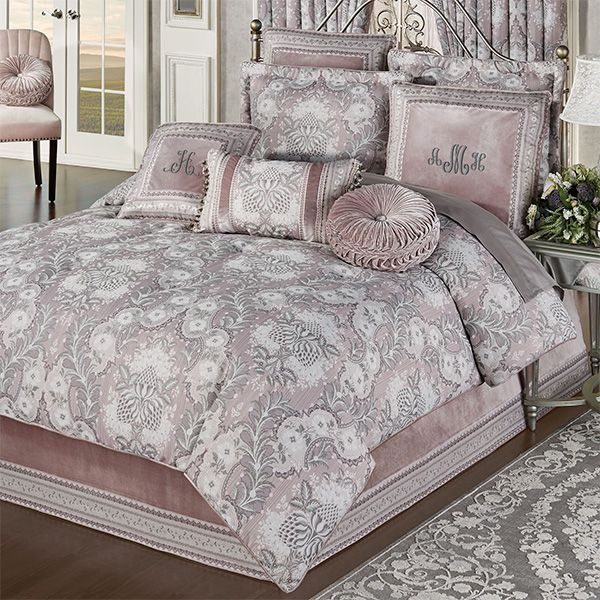 Marseille Acanthus Leaf Lilac Comforter Bedding Bed Comforters Comforters Comforter Sets
