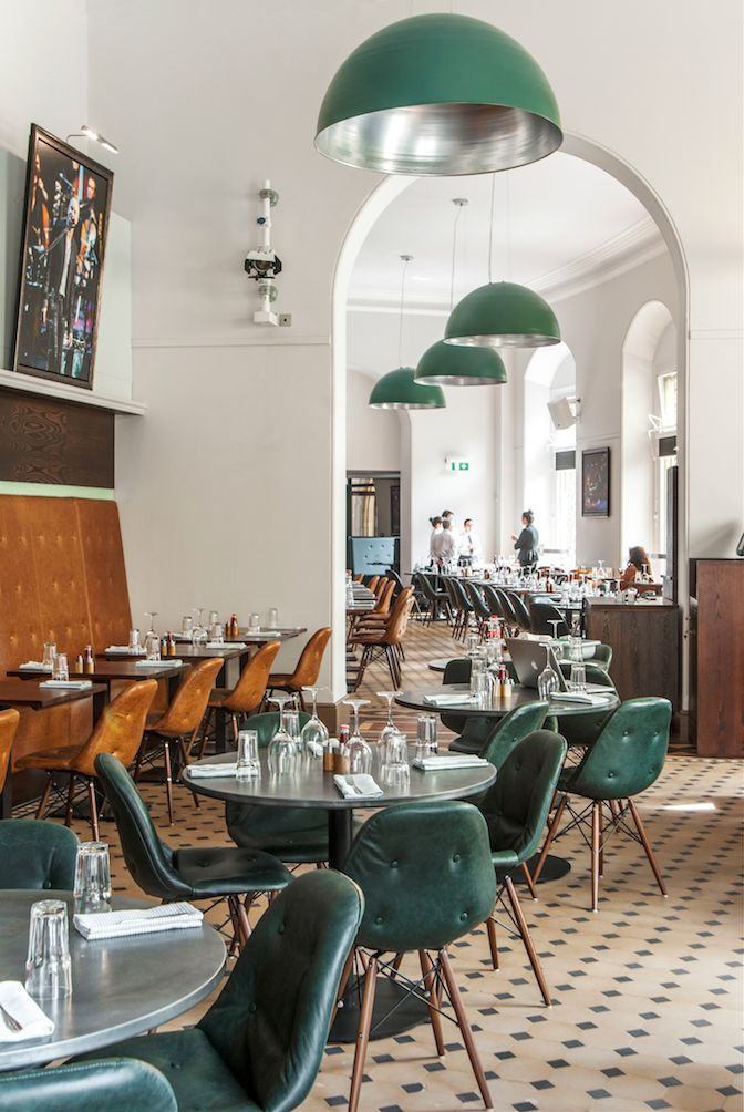 Great overall shape as no matter how full the restaurant certain areas can appear lively even when business is mild. The lamps work with the shapes of the architecture and tie with the chairs. You want to go. That is worthy design.