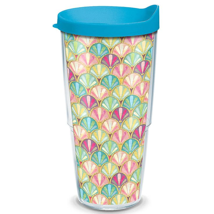 Sun and Surf Mermaid Scallop Insulated Tumbler