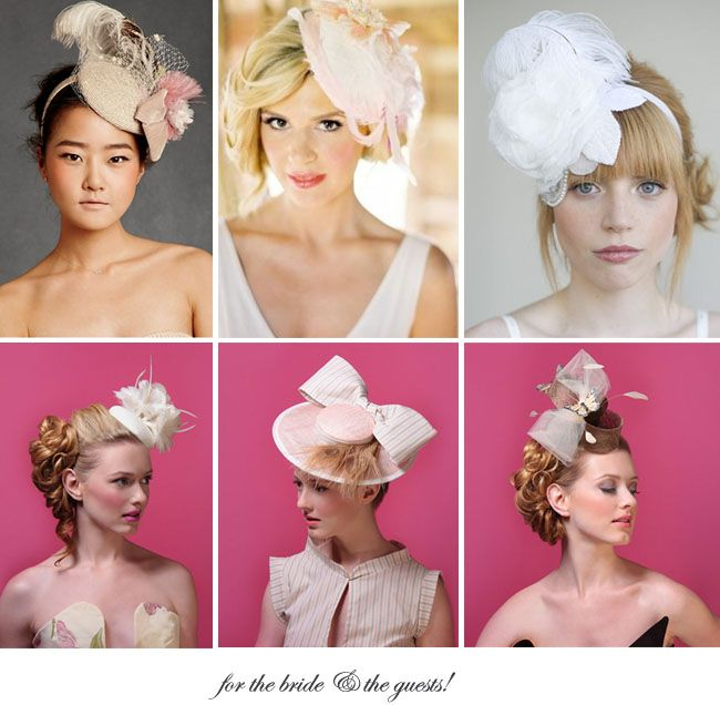 Pretty sure my sister would love to wear one of these fabulous hats. Fairly positive. Actually, I'm all about the fascinator :)