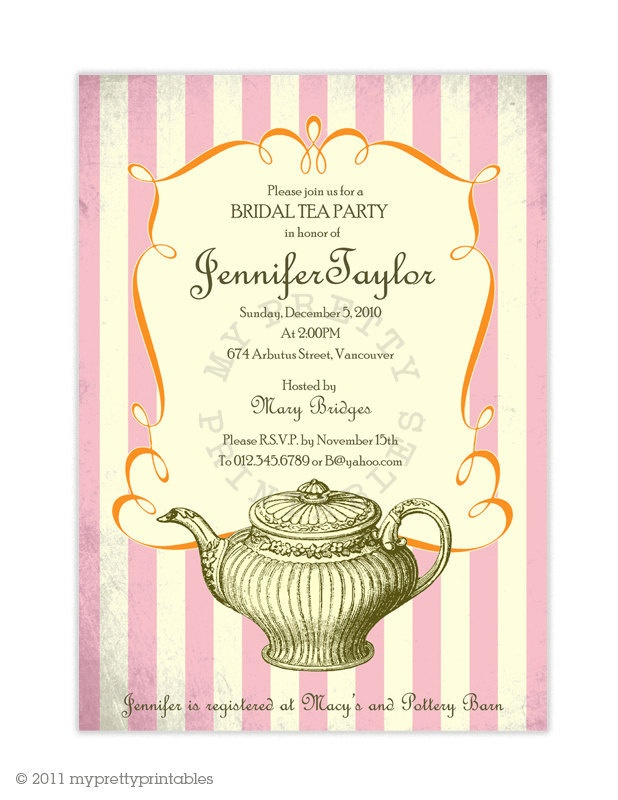 15 best Vintage Tea Party Bridal Shower images on Pinterest