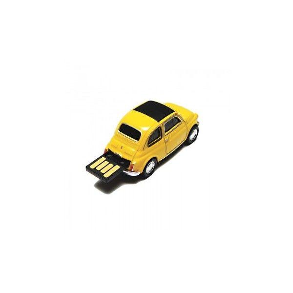 Clé USB 8 Go Fiat 500 jaune #fiat #voiture #car #usb