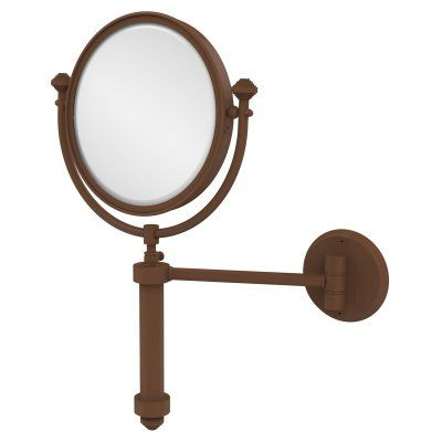 Allied Brass South Beach Wall Mounted Makeup Mirror with 4X Magnification - SB-4/4X-ABZ, AVON1060-2