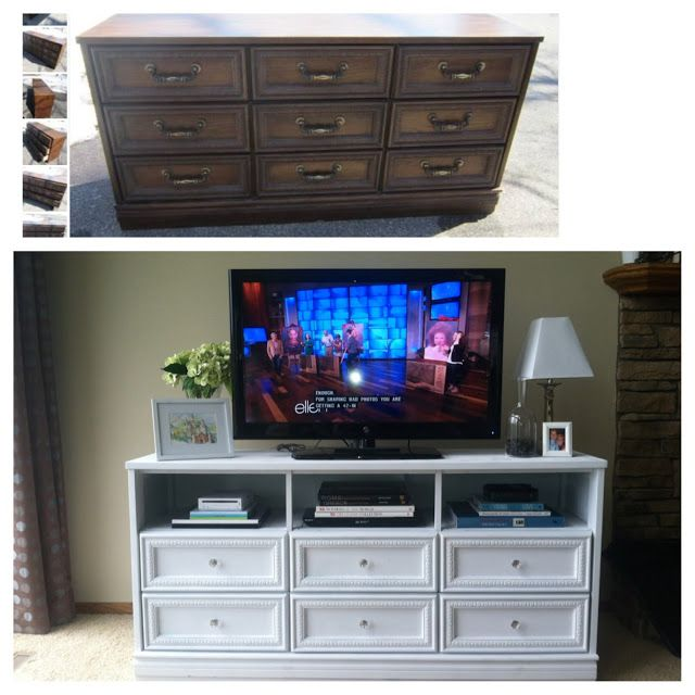 The Krazy Life: From Dresser To TV Stand | DIY | Pinterest | Tv Stands,  Dresser And Repurposed Furniture