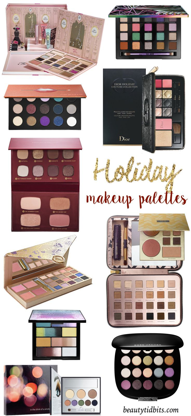 Best Holiday Makeup palettes 2015