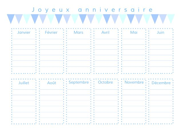 gabulle in wonderland :calendrier des anniversaires à imprimer