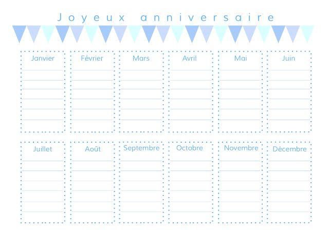 gabulle in wonderland calendrier des anniversaires perpetuel imprimer je m 39 organise. Black Bedroom Furniture Sets. Home Design Ideas