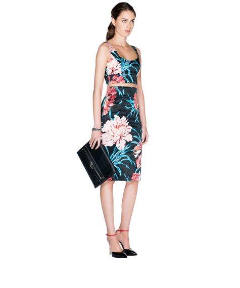 CUE - Hibiscus Satin Skirt