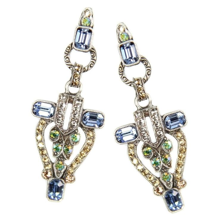 Art Deco Crystal Torch Earrings By Sweet Romance Vintage 1920 39 S New York City Geometric Style