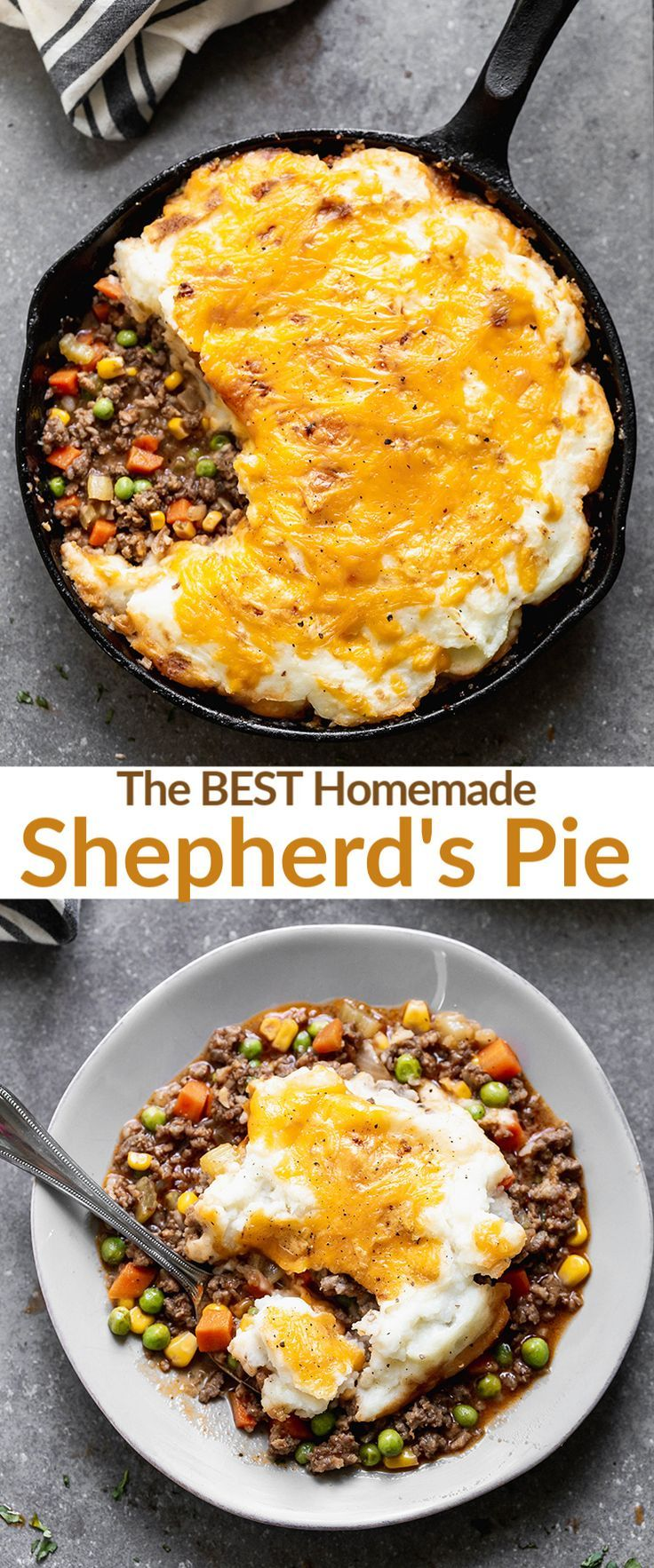 Easy Cottage Pie Made With A Mixture Of Ground Beef Ground Sausage And Mixed Vegetables In A Delicious Gravy And Baked Under A Layer Of Fluffy Mashed Potatoes Recipe Cottage