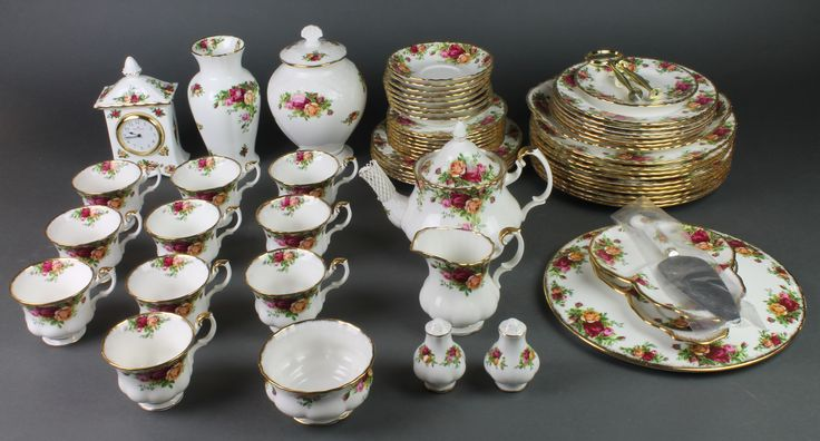 Lot 115, Royal Albert Old Country Roses tea and dinner service, sold for £260