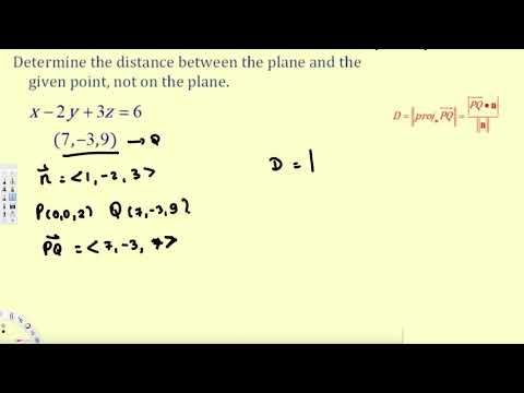 how to find distance from a point to a plane