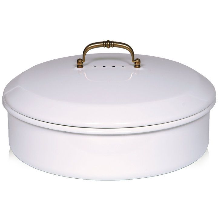 Riess Classic White Round Bread Box With Lid In 2020 Enamel