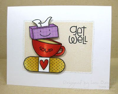 Get Well card by Lori Barnett - Paper Smooches - Healthy Vibes