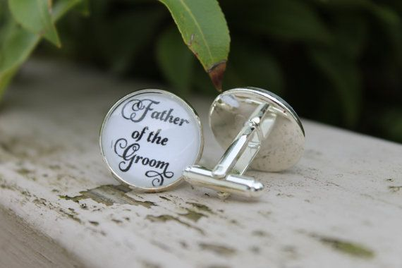 Father of the Groom Wedding Cuff links Ready by OverTheMoonBridal