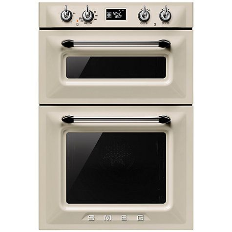 Buy Smeg DOSF6920P Victoria Built-In Multifunction Double Oven, Cream Online at johnlewis.com
