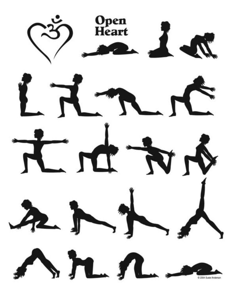 йога асаны с названиями в картинках распечатать выбор