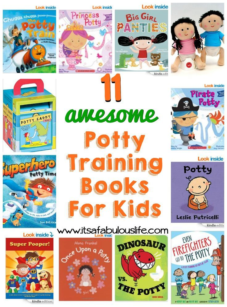 11 potty training books for kids....that kids love and that actually help!