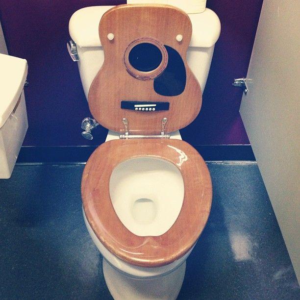 Acoustic Guitar Toilet Seat