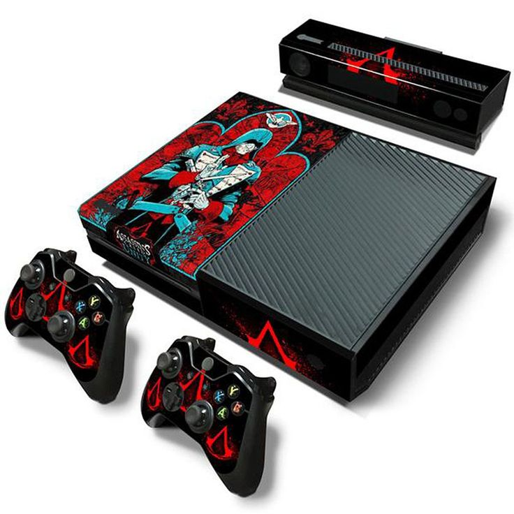 MODFREAKZ™ Console and Controller Vinyl Skin Set - Blue Suit Red Hoods for Xbox One #vinyl #vinylcollection #accessories #customized #gaming